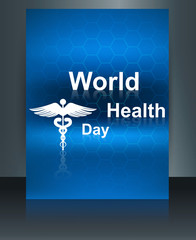 World health day vector concept medical background brochure on c