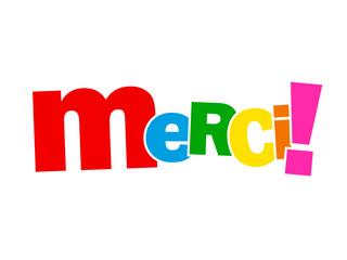 """Mosaïque de Lettres """"MERCI"""" (carte message remerciements bravo)"""