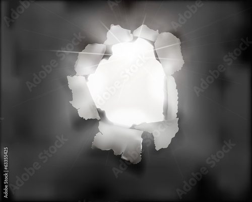 Hole in paper. Vector illustration
