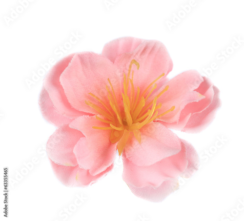 Pink artificial flower.