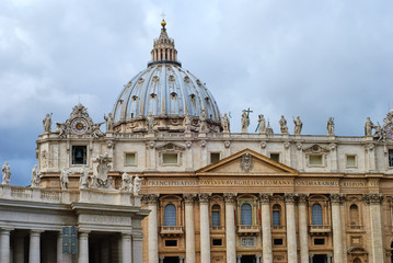 Detail of the San Peter Basilica, Vatican, Rome, Italy