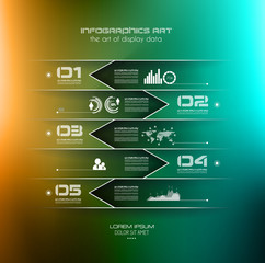 Blurred Infographic design template