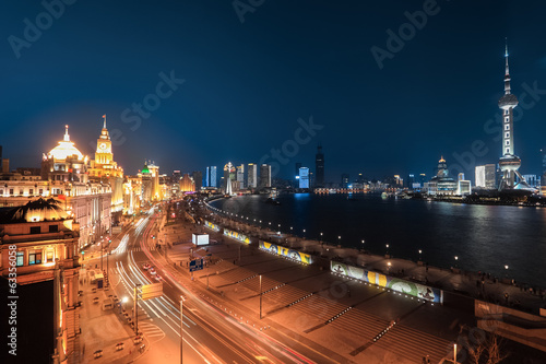 shanghai bund night view