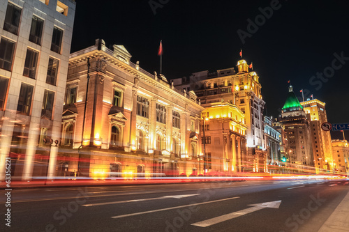 shanghai bund streets at night
