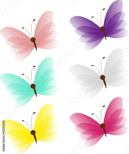 Colored butteflies