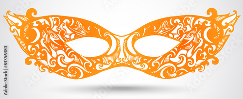 Carnival mask illustration. Vector design element for invitation