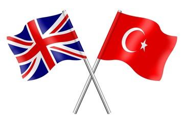Flags: United Kingdom and Turkey
