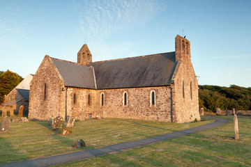Norman parish church at St. Brides