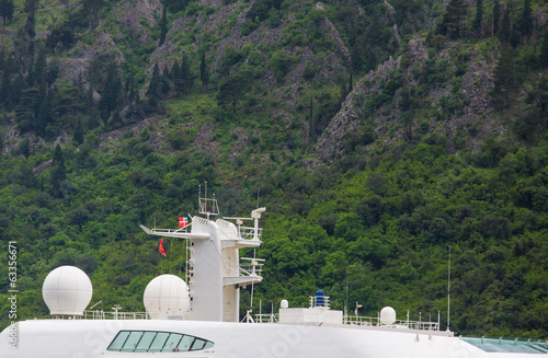 Communication Equipment on Cruise Ship by Mountainside