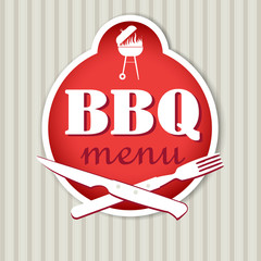 BBQ menu template for restaurant.