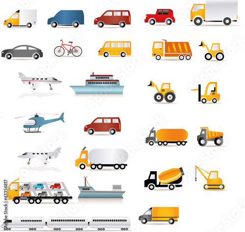 Transport & Logistik Fahrzeuge Illustration