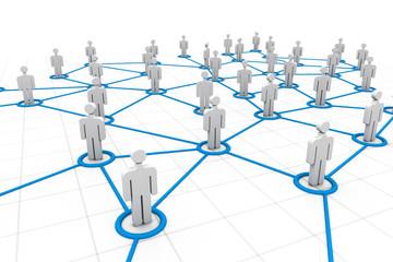 3d social network concept ..