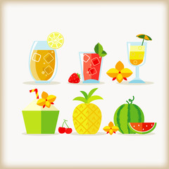 beverage and fruit