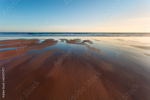 Welsh sandy beach at low tide