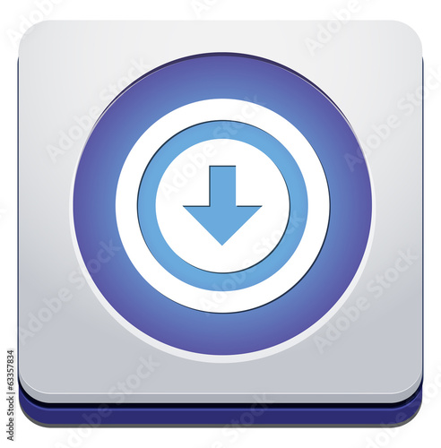 icon with download sign