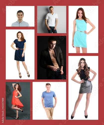 Collage of fashion models