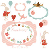 Fototapety illustrations and graphic elements for greeting cards
