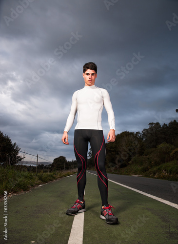 Runner man portrait