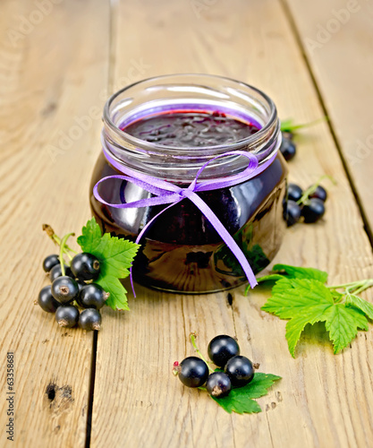 Jam blackcurrant on the board