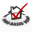 Home Based Business Check Mark Box House Icon