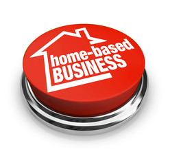 Home Based Business Button Self Employed Entrepreneur
