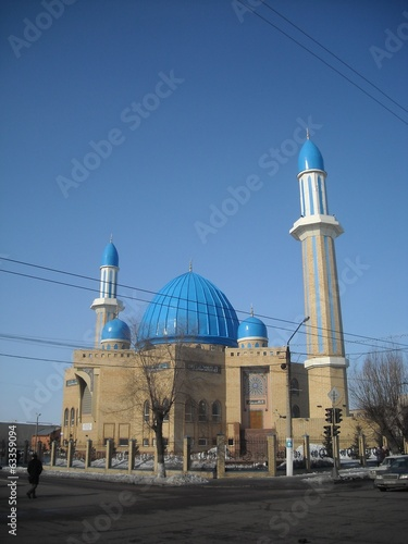 Mosque with blue domes