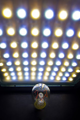 LED and incandescent light