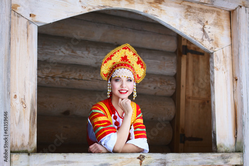 Russian girl in a kokoshnik