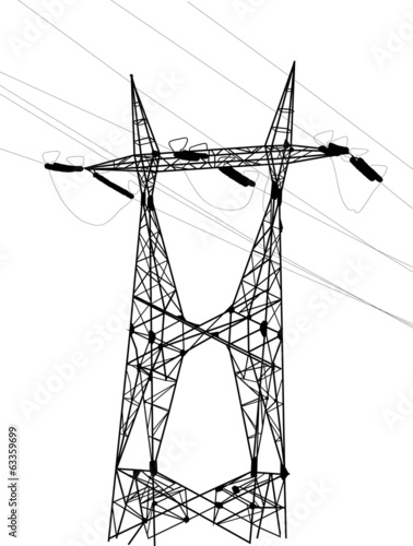 electrical double pylon and cables