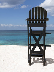 Lifeguard Chair at Tropical Beach