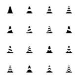 Vector black traffic cone   icons set - 63360421