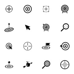 Vector black  target  icons set