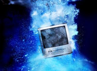 TV set underwater