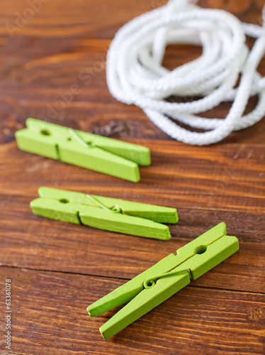 rope and clothespin