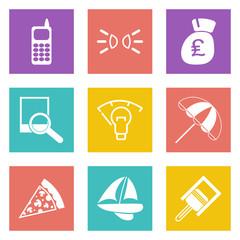 Color icons for Web Design set 36