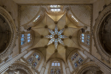 The Ceiling of Burgos Cathedral in Spain