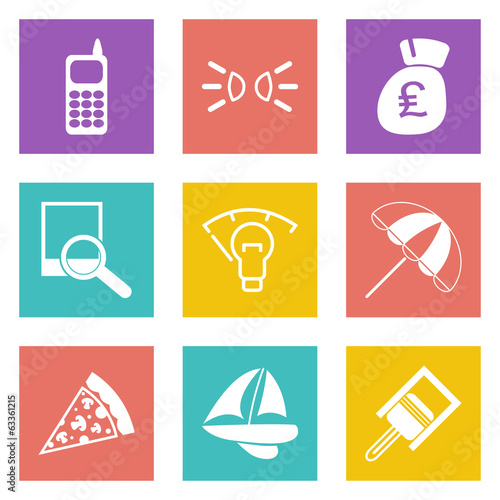 Color icons for Web Design set 36