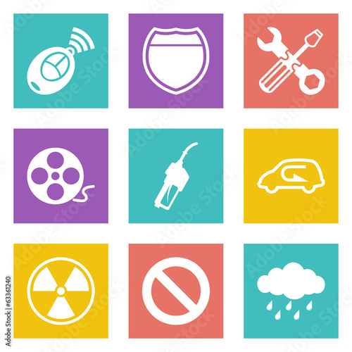 Color icons for Web Design set 37
