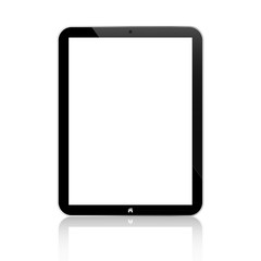 Black Business Tablet Similar With Button Isolated On White