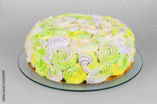 Colorful pastel cream cake