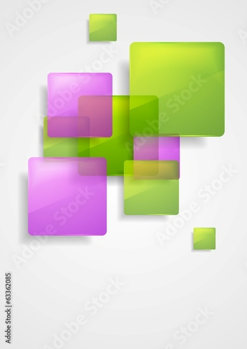 Colorful glossy vector squares design