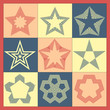 Vector set of vintage monochrome stars