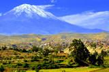 El volcán Misti desde un mirador de Arequipa