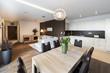 Leinwanddruck Bild - Luxurious kitchen with living area