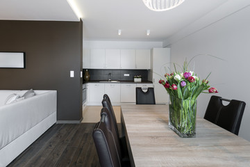 Luxurious kitchen and dinning table