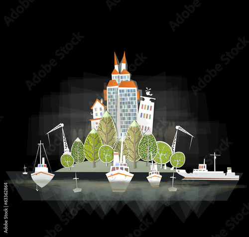 White city collection, Port illustration