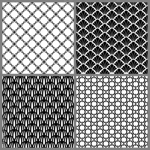 Seamless Pattern Mix Black/White