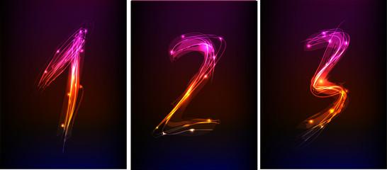 neon Alphabet, numbers