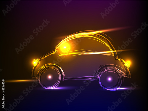 neon car, background