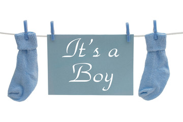 It is a Boy Announcement